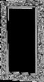 Зеркало напольное отделка серебро - Итальянская прихожая Prestige (laccato)