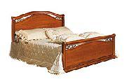 Кровать 140 - 2 спинки дерево - (сп.место 140х200) - Итальянская спальня Siena