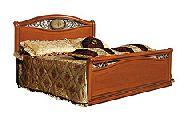 Кровать 180 - 2 спинки c метал. вставками - (сп.место 180х200) - Итальянская спальня Siena