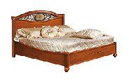 Кровать 160 - 1 спинка c метал. вставками - (сп.место 160х200) - Итальянская спальня Siena