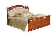 Кровать 160 - 2 спинки кожа - (сп.место 160х200) - Итальянская спальня Siena