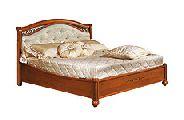 Кровать 180 - 1 спинка кожа - (сп.место 180х200) - Итальянская спальня Siena