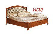 Кровать 160 - 1 спинка кожа Capitonne - (сп.место 160х200) - Итальянская спальня Siena