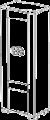 Витрина 1/А с подсветкой (левая)   L. 68  x  43  H. 190  - Итальянская гостиная Prestige