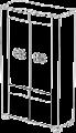 Витрина 2/А с подсветкой L. 107  x  43  H. 190  - Итальянская гостиная Prestige