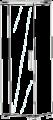 Витрина 1/А с подсветкой (левая)   L. 64  x  43  H. 184  - Итальянская гостиная Sarah