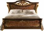 Кровать с деревянной спинкой (сп.м.160х190/200), размер L207 h145 D214(160 на 190) и D225(160 на 200) - Итальянская спальня Sinfonia