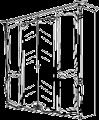 Шкаф 4-х створчатый 2 зеркала L. 229 x 75  H. 229 - Итальянская спальня La Fenice (белый лак)