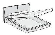 """Кровать """"DIAMOND"""" 180*200 с подъемным механизмом - Итальянская спальня Diamond avorio"""