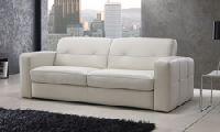 ЛИМА С диван-кровать с электрическим приводом, Размер ш/в/г: 217/87/101 см, обивка кожа, цвет теплый белый, цвет дерева венге. Размер спального места 160х195 см, высота матраса 14 см, матрас латексный.