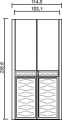 Шкаф 2-х дверный    (боковины 8,2) L. 114,5 x 60,8  H. 235,6 - Итальянская спальня Chanel