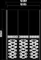 Шкаф 3-х дверный    (боковины 8,2) L. 164,8 x 60,8  H. 235,6 - Итальянская спальня Chanel
