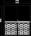 Шкаф купе 2-х створчатый (боковины 8,2) L.215,1 x 65,1  H. 235,6 - Итальянская спальня Chanel