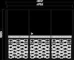 Шкаф купе 3-х створчатый(боковины 8,2)  L.315,7 x 65,1  H. 235,6  - Итальянская спальня Chanel