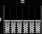 Шкаф 6-ти дверный  (боковины 8,2) L. 315,7 x 60,8  H. 235,6 - Итальянская спальня Chanel