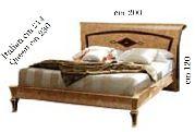 Кровать 160*190 - Итальянская спальня Rossini