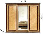 Шкаф купе 3 двери - Итальянская спальня Rossini