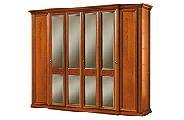 Шкаф 6 дверный с зеркалами - Итальянская спальня Siena