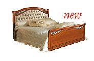 Кровать 160 - 2 спинки кожа Capitonne - (сп.место 160х200) - Итальянская спальня Siena