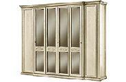 Шкаф 6 дверный с зеркалами - Итальянская спальня Siena avorio
